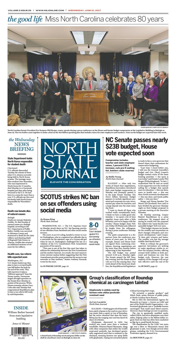 North State Journal Vol  2, Issue 25 by North State Journal