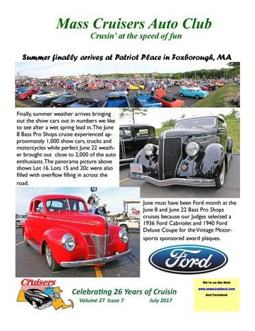 July Mass Cruisers Auto Club Newsletter By John Buchanan Issuu - Bass pro car show