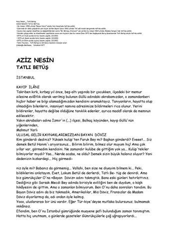 Aziz Nesin Tatli Betus By Seymur Huseynov Issuu