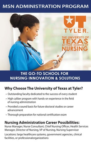 UT Tyler MSN Administration Program by The University of