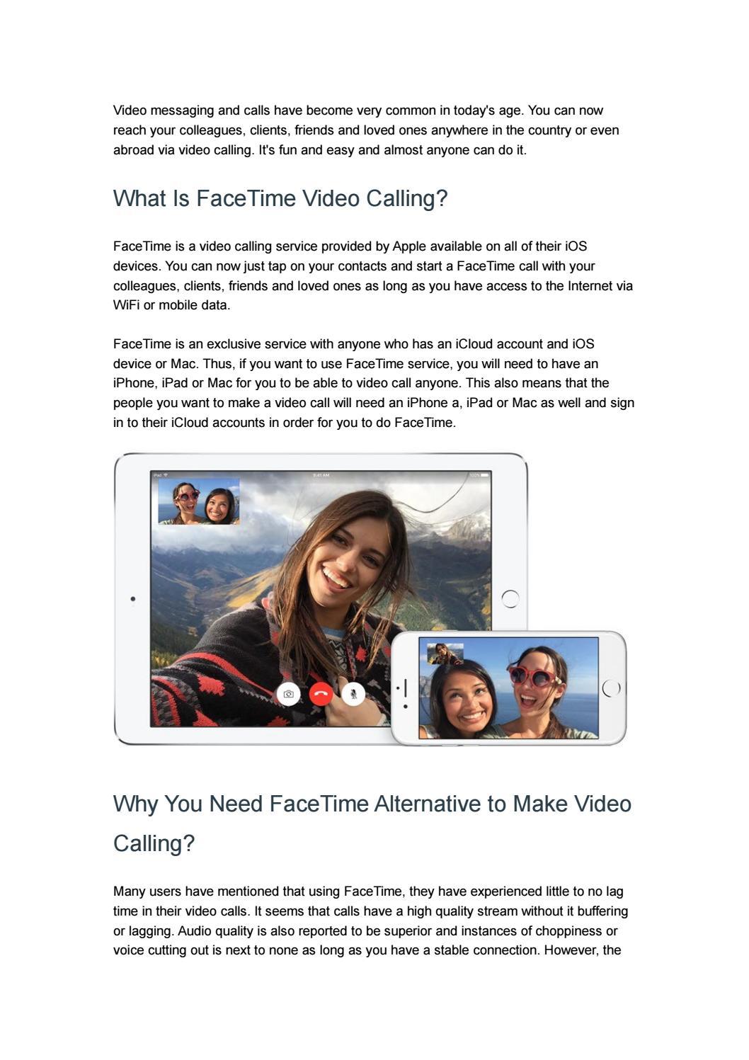 7 Best FaceTime Alternatives for Video Calling by ezTalks - issuu