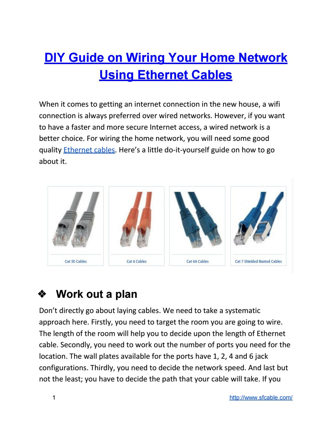 Diy Guide On Wiring Your Home Network Using Ethernet Cables By Sf Cable Inc Issuu