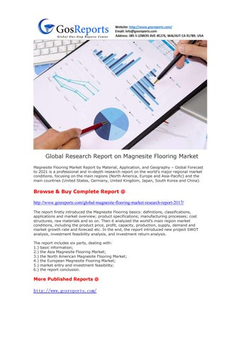 Global research report on magnesite flooring market by mr c issuu global research report on magnesite flooring market magnesite flooring market report by material application and geography x20acx201c tyukafo