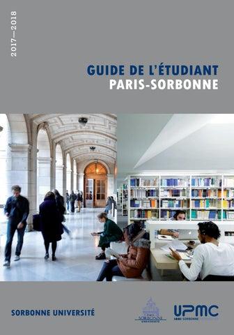 Guide De Létudiant Paris Sorbonne 2017 2018 By Université Paris