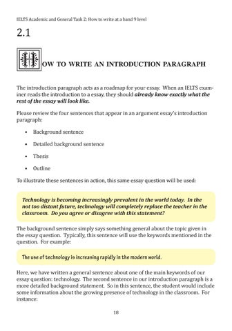 How To Write A Good Essay For High School Page  Essay Papers Examples also Sample English Essays How To Write At A Band  Level  Ielts Writing Task  By Vn Ti  Business Essay Topics