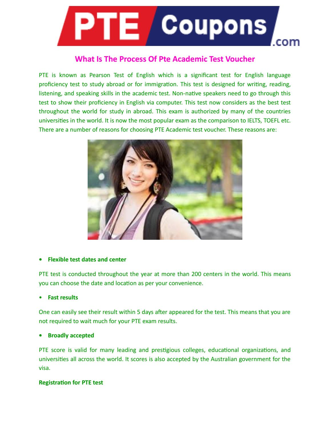 What is the process of pte academic test voucher by Pte