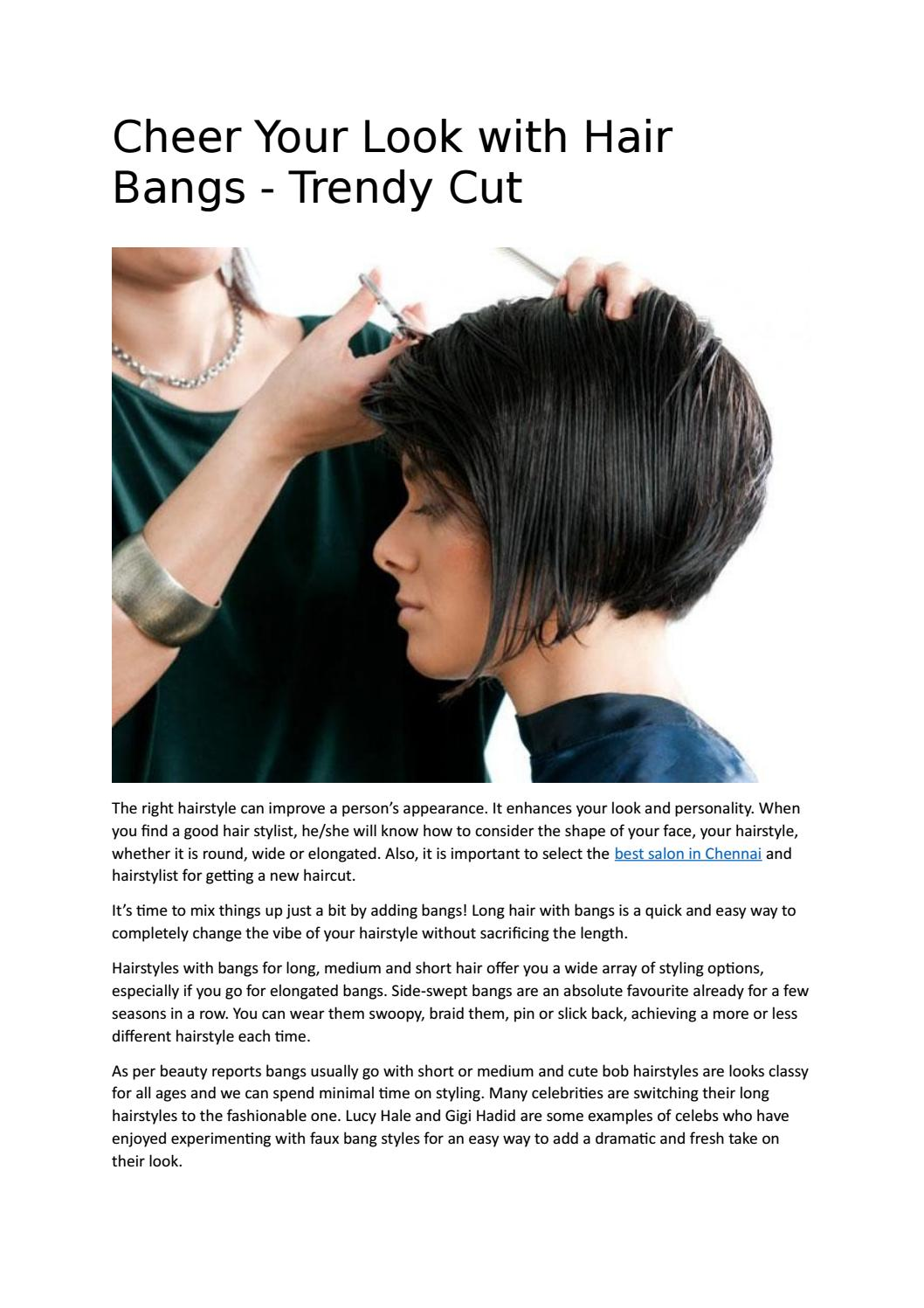 cheer your look with hair bangs trendy cut by eleganz salon