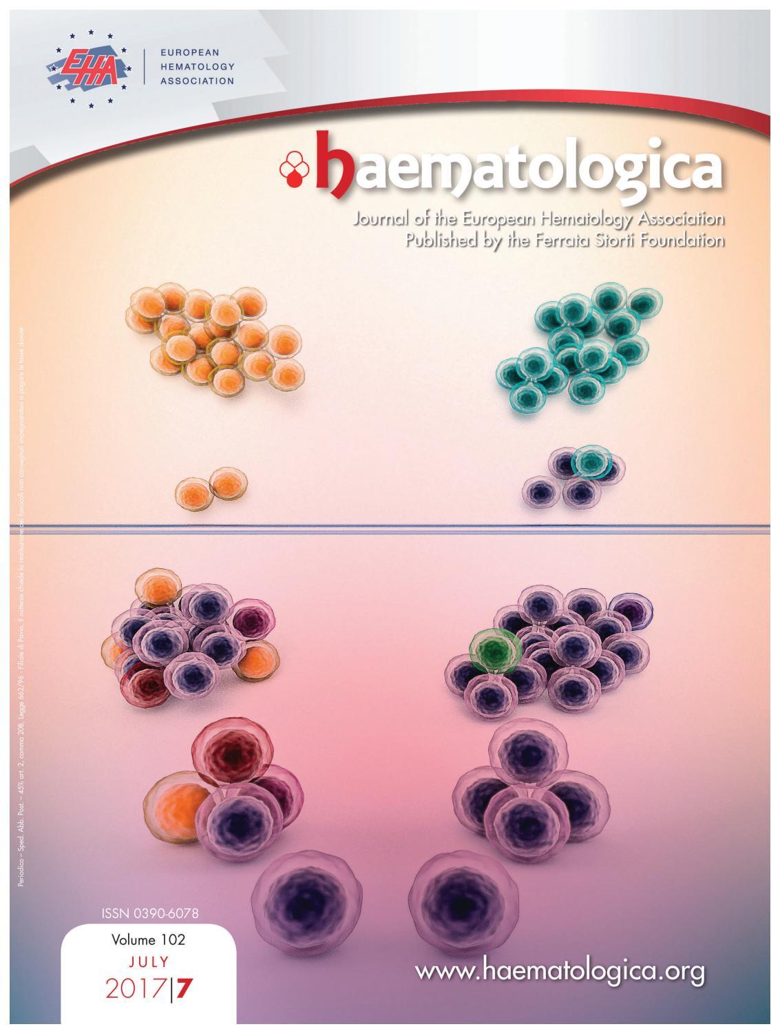 Haematologica, volume 102, issue 7 by Haematologica - issuu