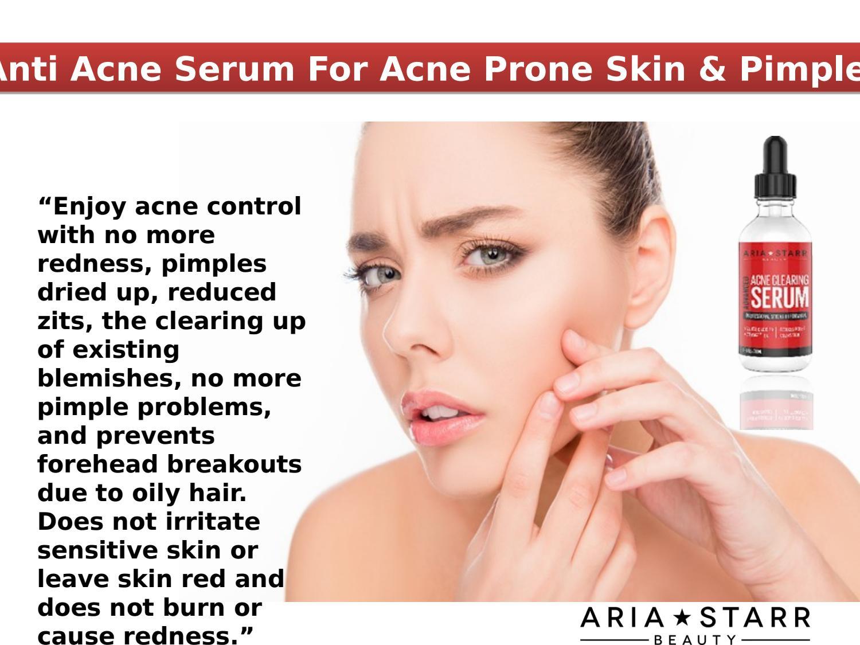 Anti Acne Serum For Acne Prone Skin By Aria Starr Beauty Issuu