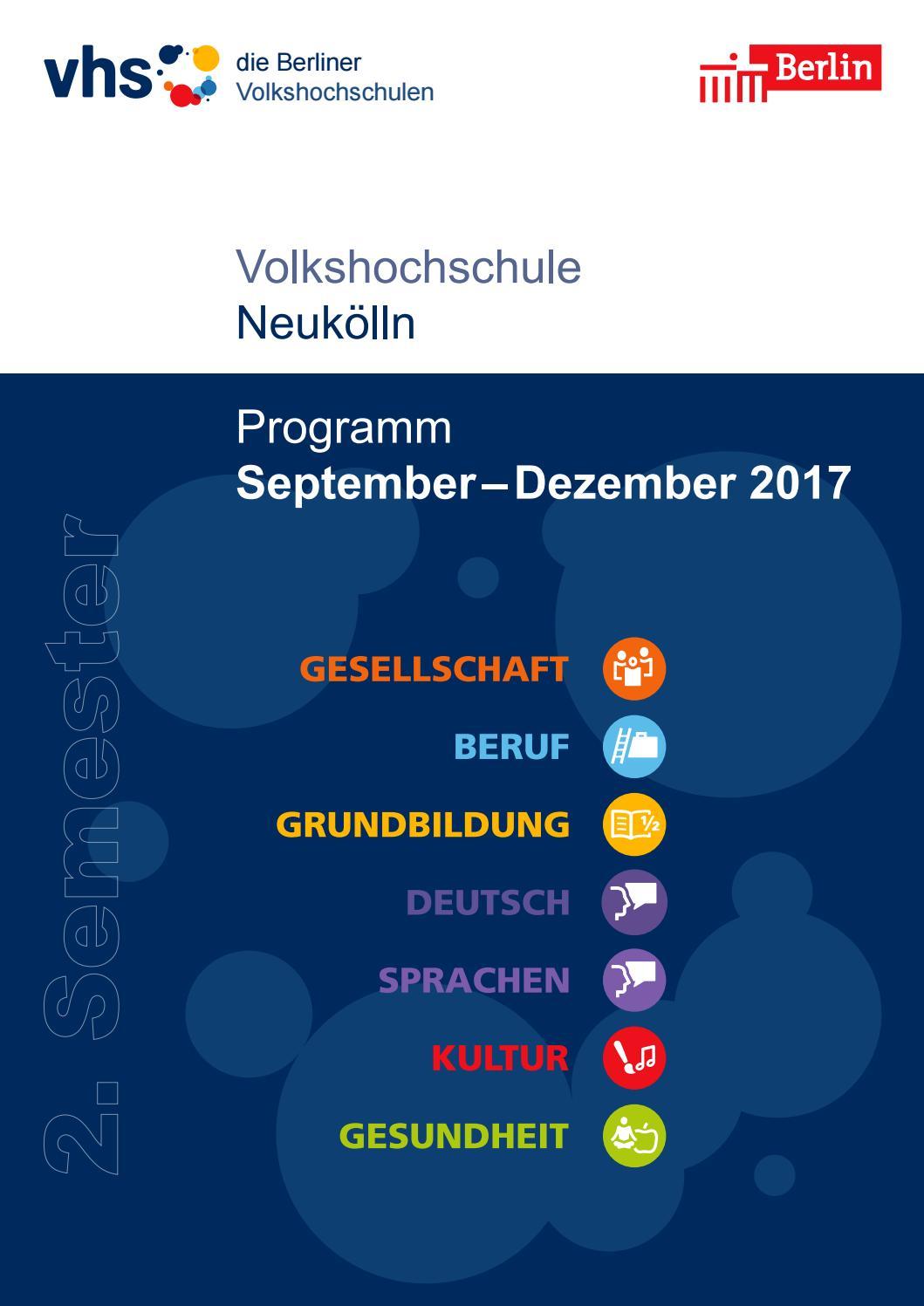 Lehrplan 2. Semester 2017 | VHS Neukölln Berlin by SINISSEY ...