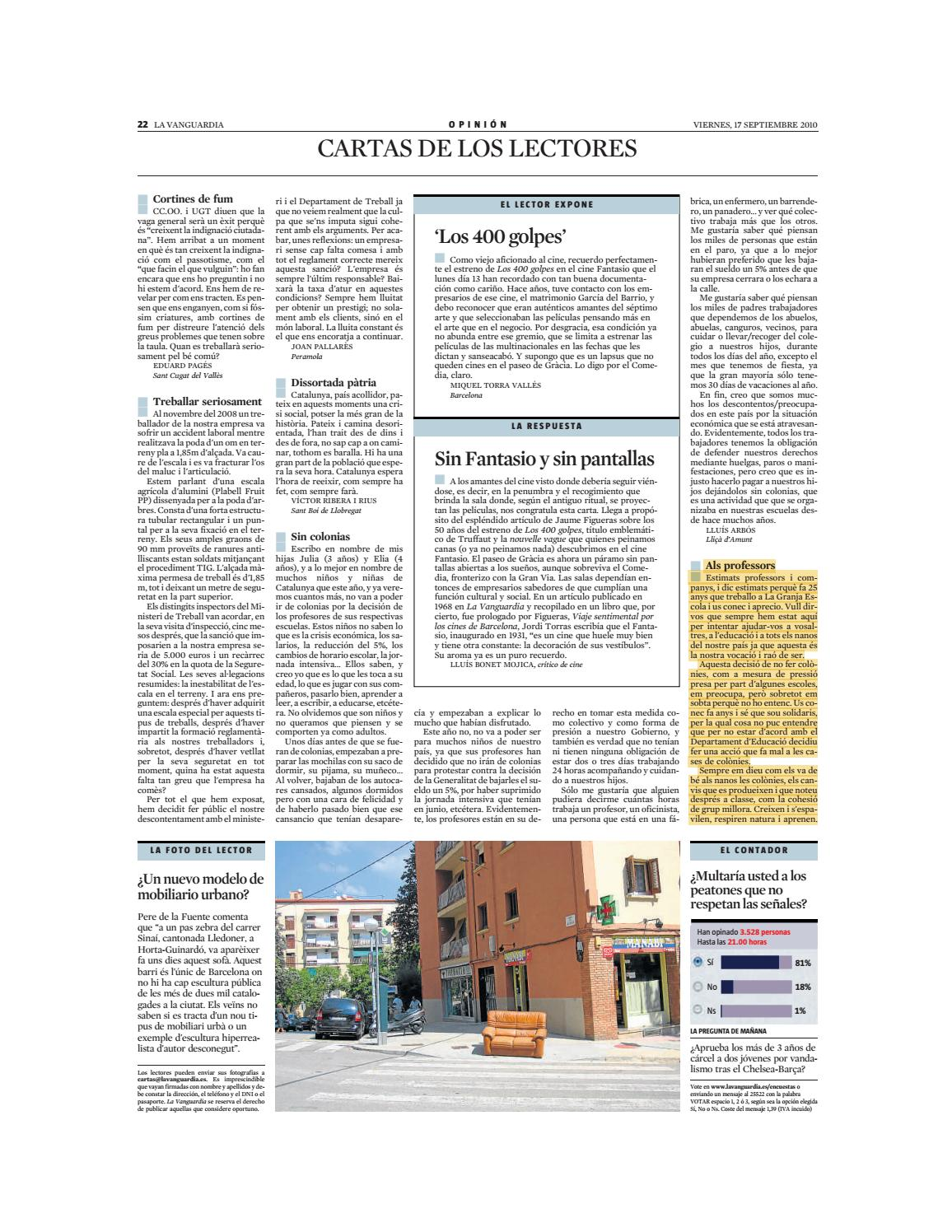 Cartes La Vanguardia By La Granja Issuu
