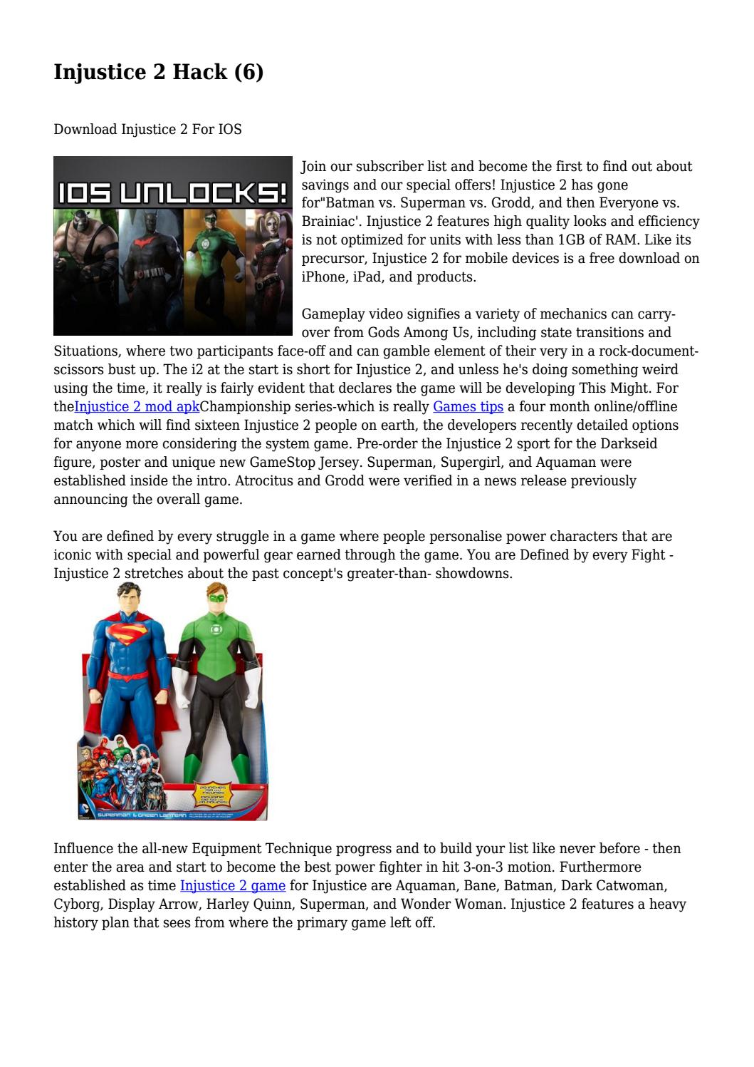 Injustice 2 Hack (6)    by burtvvzgkjwnrr - issuu