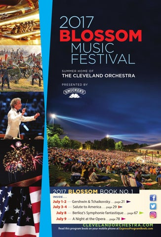 2017 Blossom Music Festival July 1 2 3 4 8 9 Concerts By Live