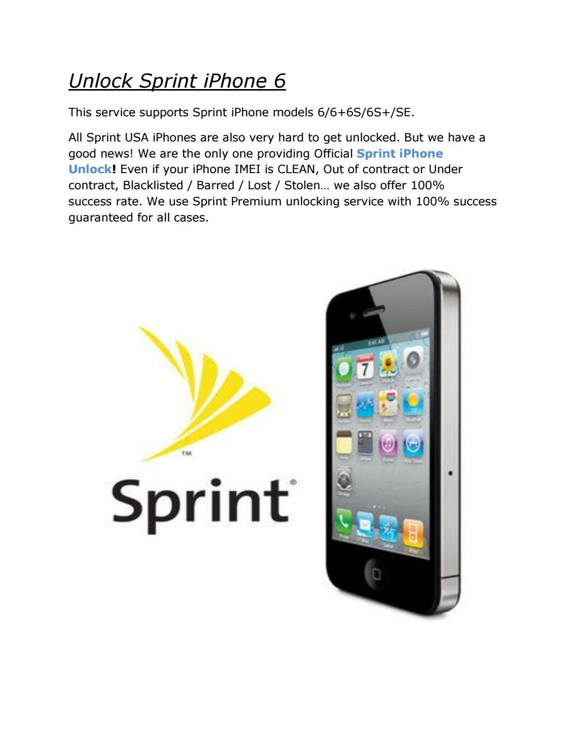 Unlock sprint iphone 6 pdf by dayoneunlocks - issuu