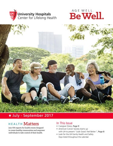University Hospitals Age Well Be Well Newsletter, East by UH