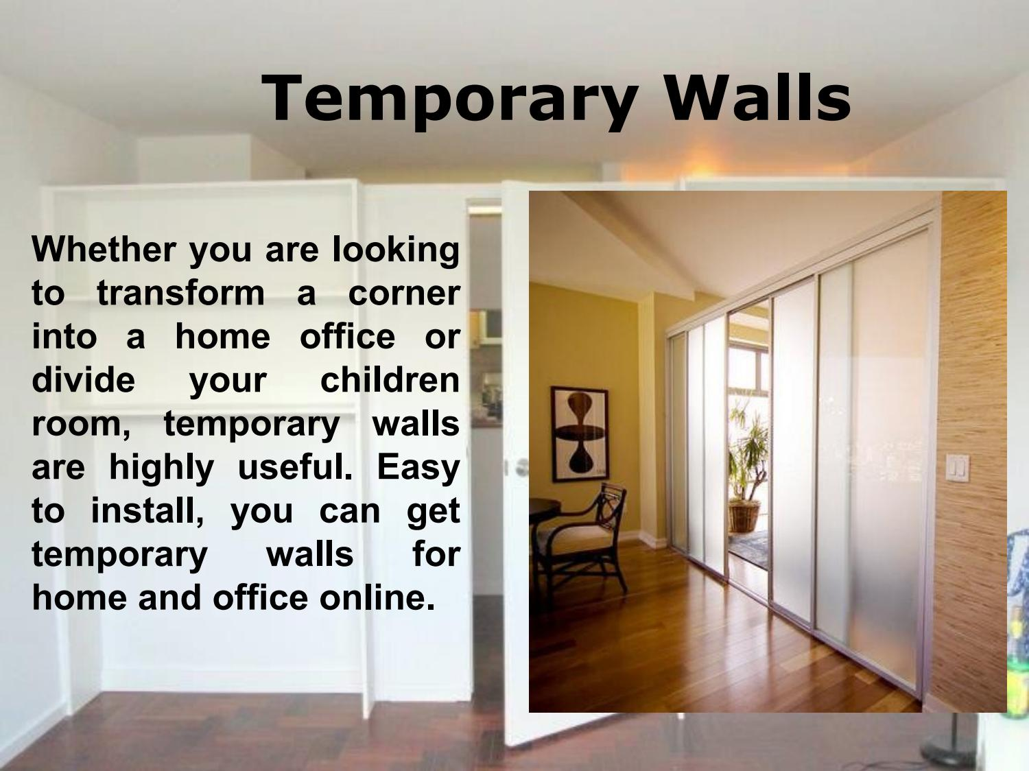 How to Build Temporary Walls by 1daywall issuu