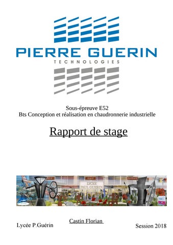 Rapport De Stage Achever By Flo Bpt Issuu