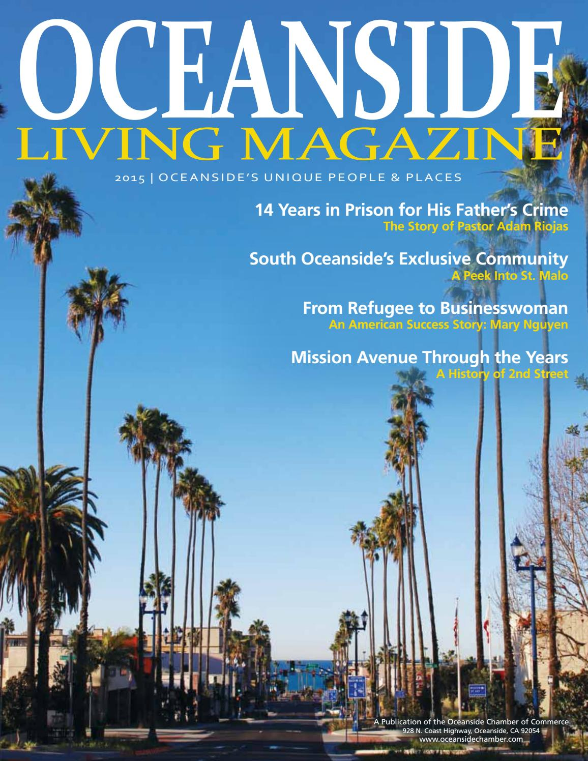 Best of OCEANSIDE LIVING MAGAZINE 2015 Oceanside s Unique People and