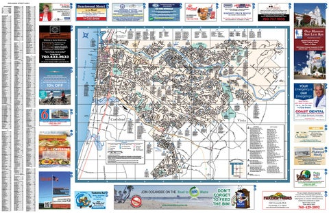 OCEANSIDE CITY STREET MAP FULL SIZE DETAILED Best of OCEANSIDE