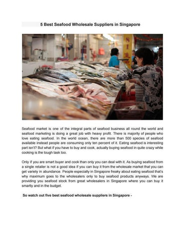 5 Best Seafood Wholesale Suppliers in Singapore by pacificandes - issuu