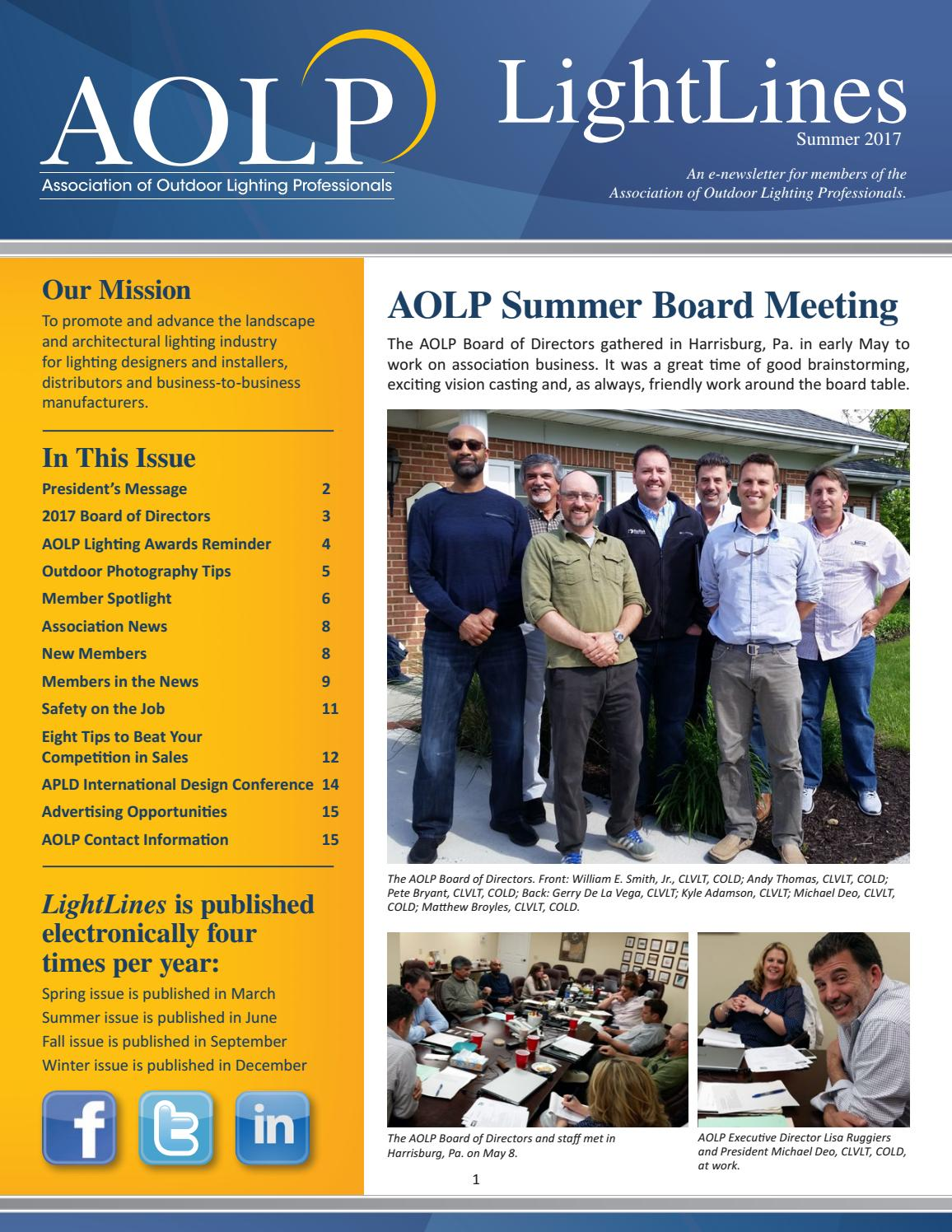 Aolp Lightlines 2017 Summer Issue By