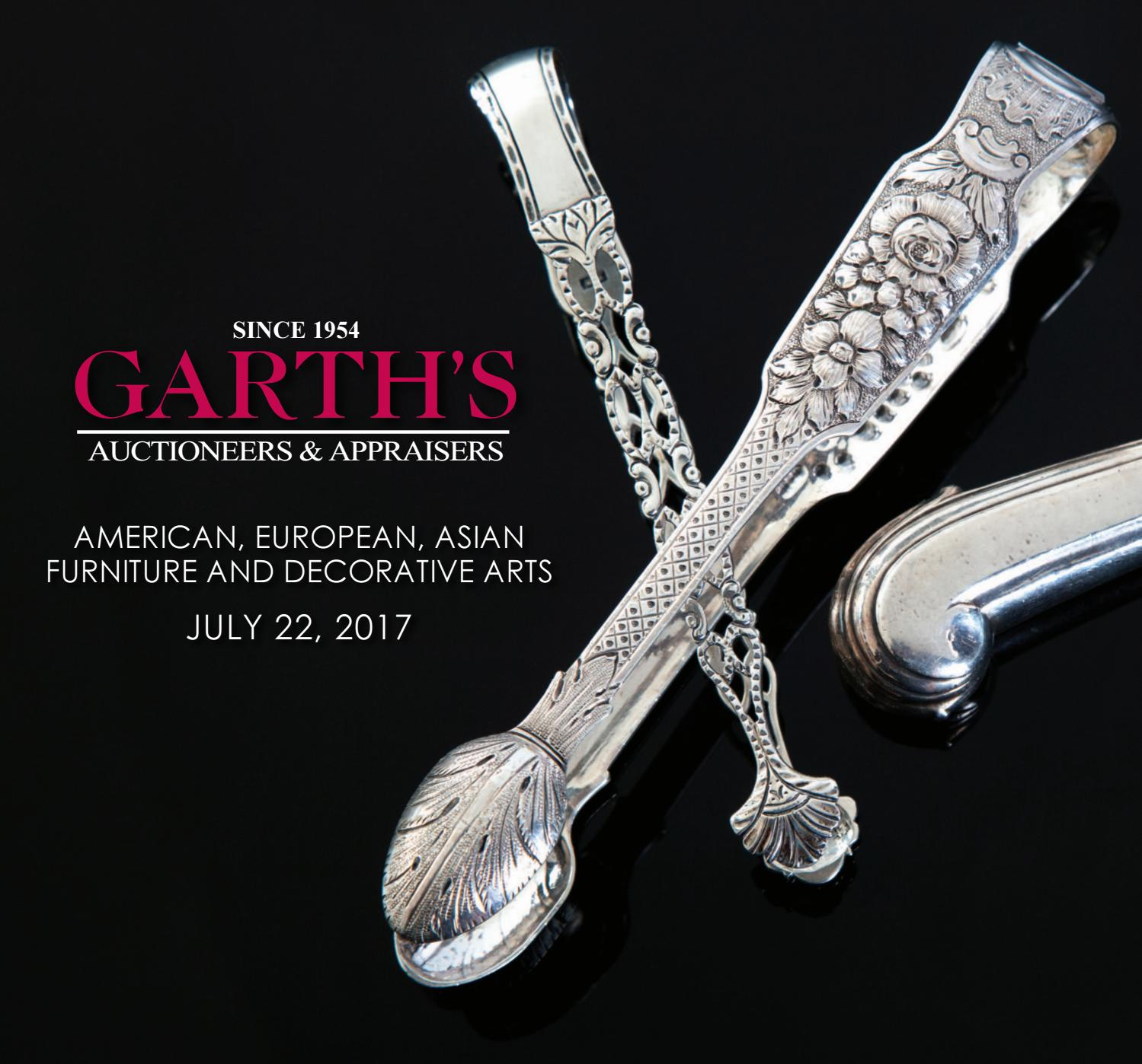 2017 July Decorative Arts Auction Catalog Garth s by Garth s