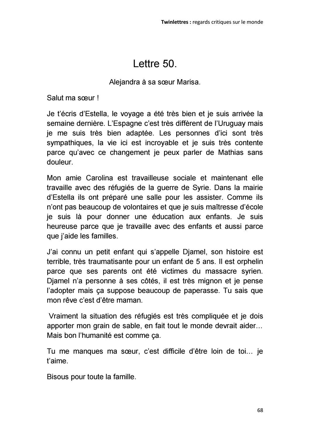 Twinlettres Regards Critiques Sur Le Monde By Hélène