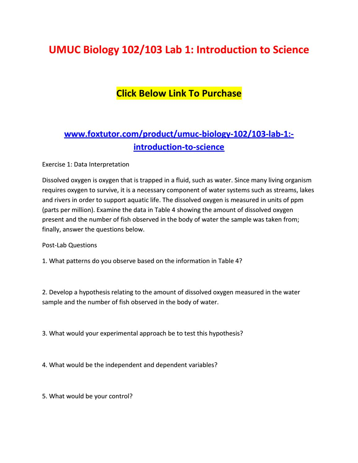 custom lab manual umuc biol 102 103 Umuc biology 102 103 lab 5: meiosis - homework - use the laboratory manual located under course content  biology 103 lab manual answers | education at edu libs .