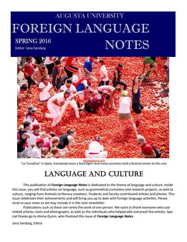 Foreign Language Notes By Augusta University Issuu