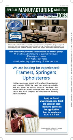United Furniture Industries Is The Exclusive U.S. Manufacturer Of Simmons  Upholstery. Our Goal Is To Provide Exceptional Value With Outstanding  Service.