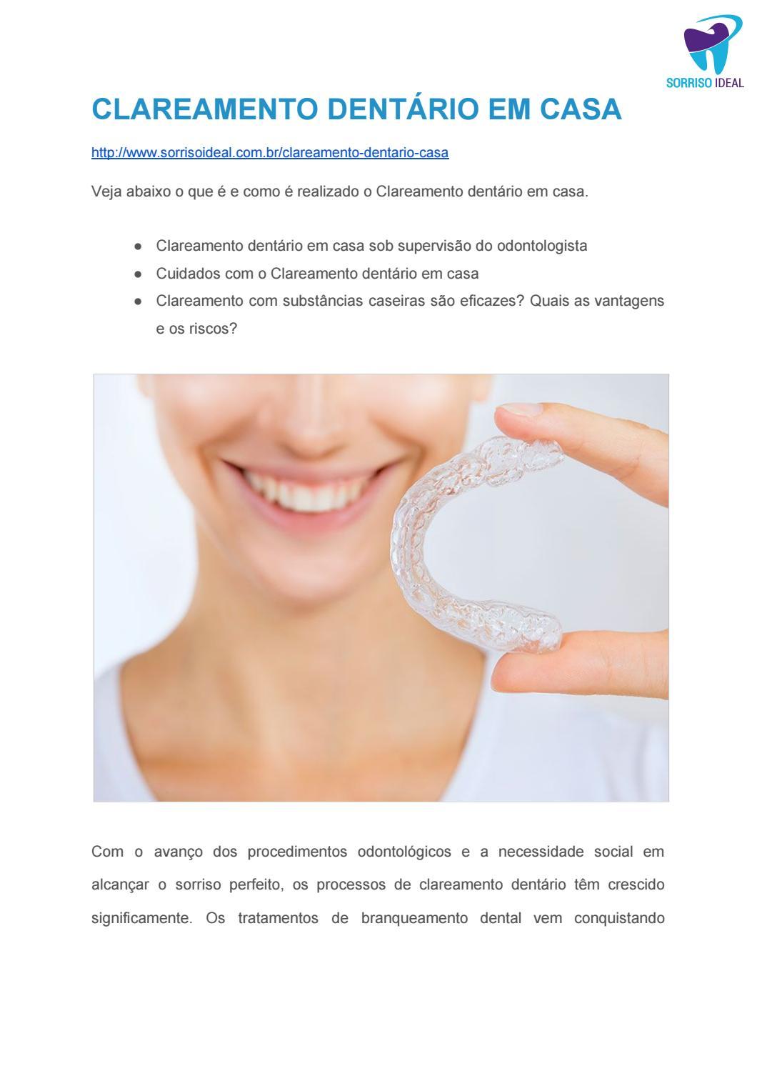 Clareamento Dentario Em Casa By Sorriso Ideal Issuu