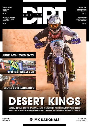 Inside Dirt Issue 20 Mx Nationals Round 6 By Mx Nationals
