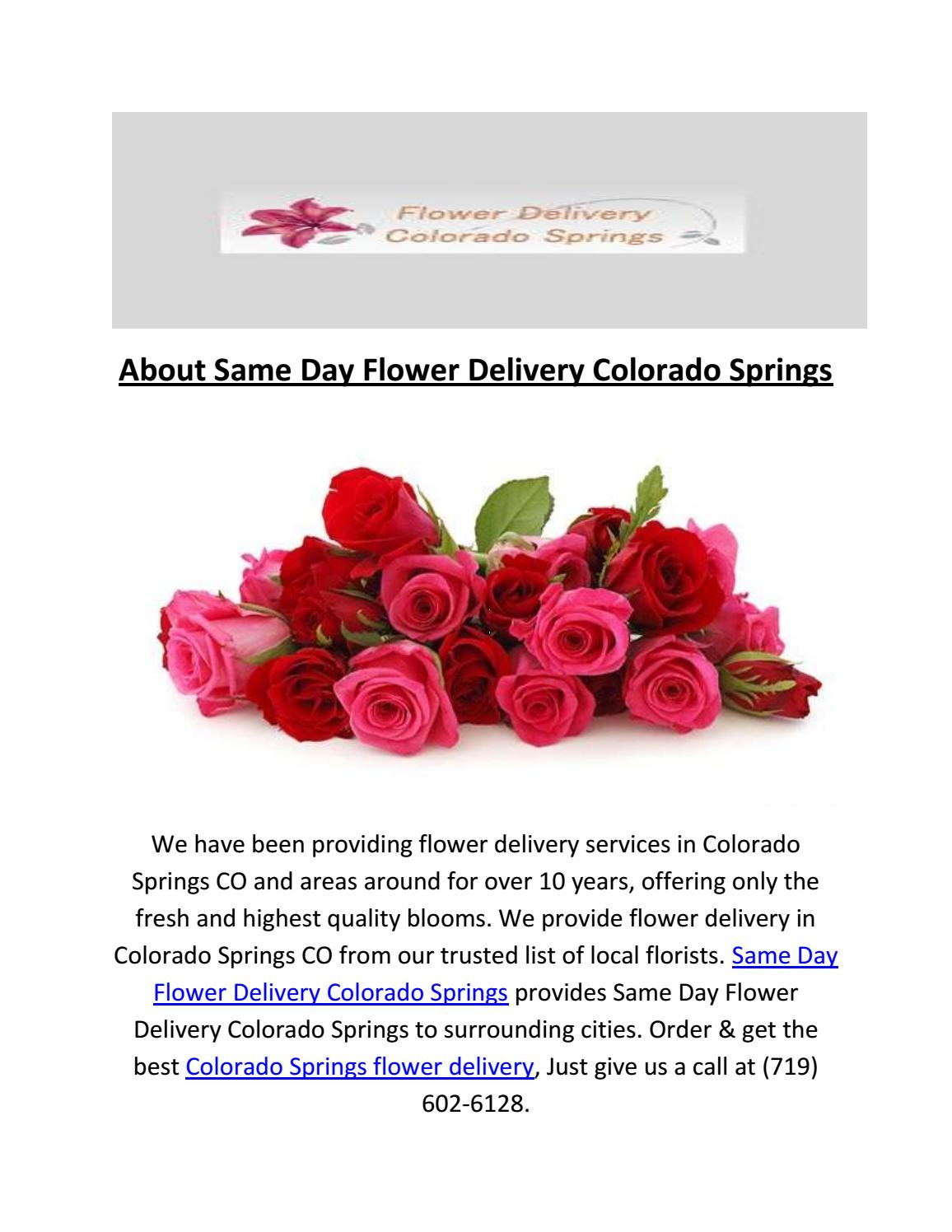 Call 719 602 6128 Same Day Flower Delivery Colorado Springs