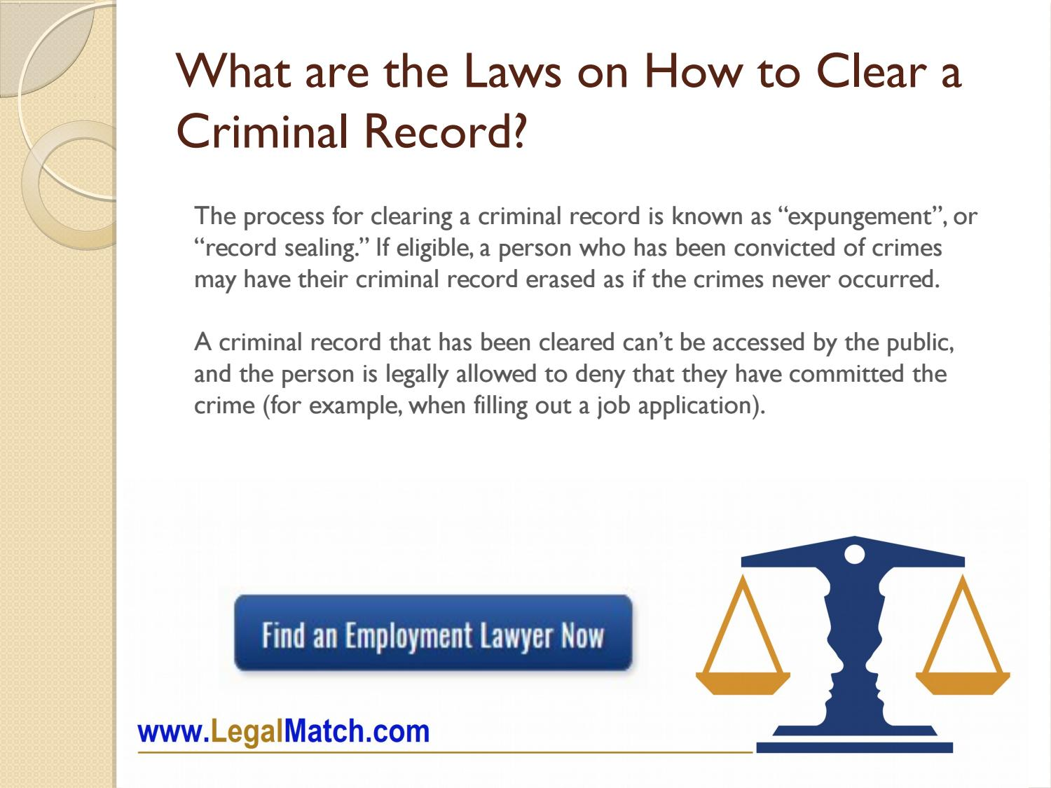 how to clear criminal background
