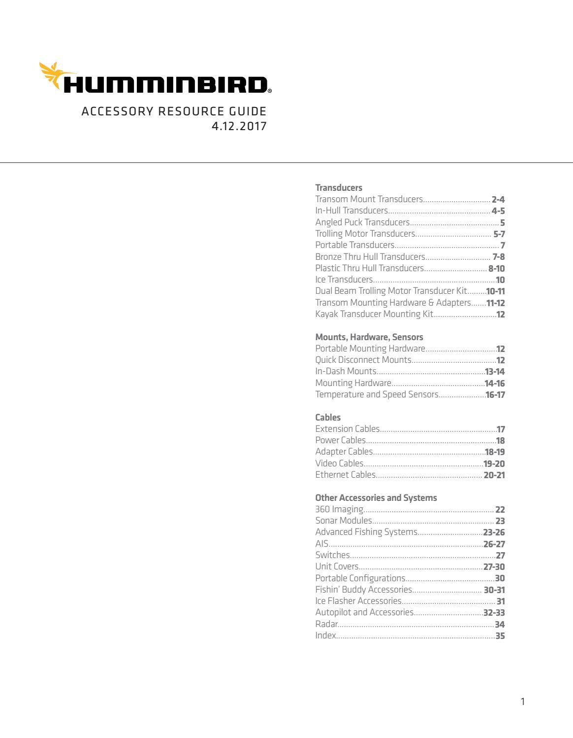SOLIX//Onix Models Humminbird 710265-1 XM 14 20 MSI T Transom Mount Transducer