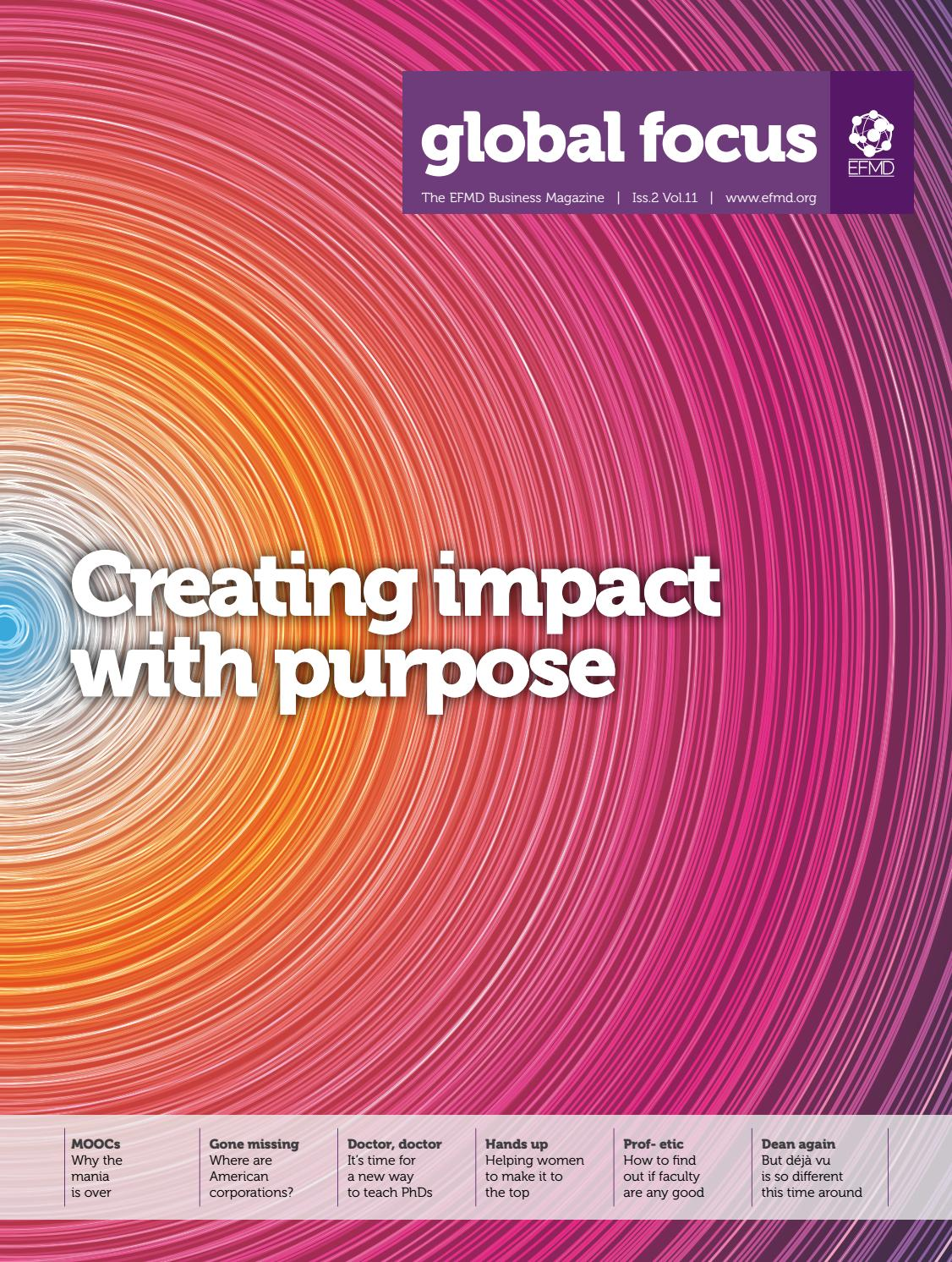 Efmd Global Focus Vol 11 Issue 2 Creating Impact With Purpose Playstation Network Card Idr 200000 By Issuu
