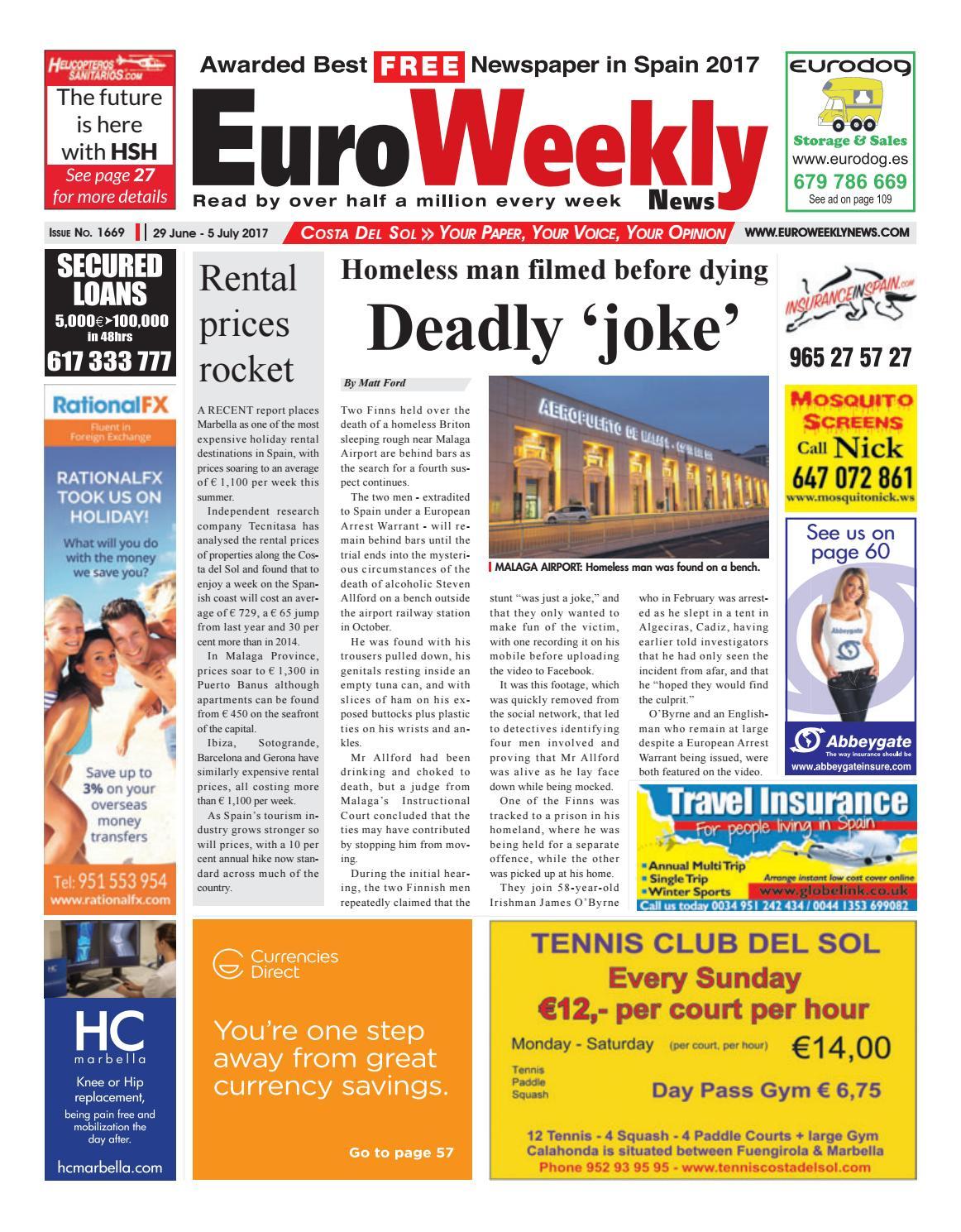 Euro Weekly News Costa Del Sol 3 9 November 2016 Issue 1635 By  # Muebles Fenda Murcia