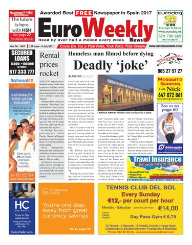 Euro weekly news costa del sol 29 june 5 july 2017 issue 1669 by the future is here with hsh fandeluxe Gallery
