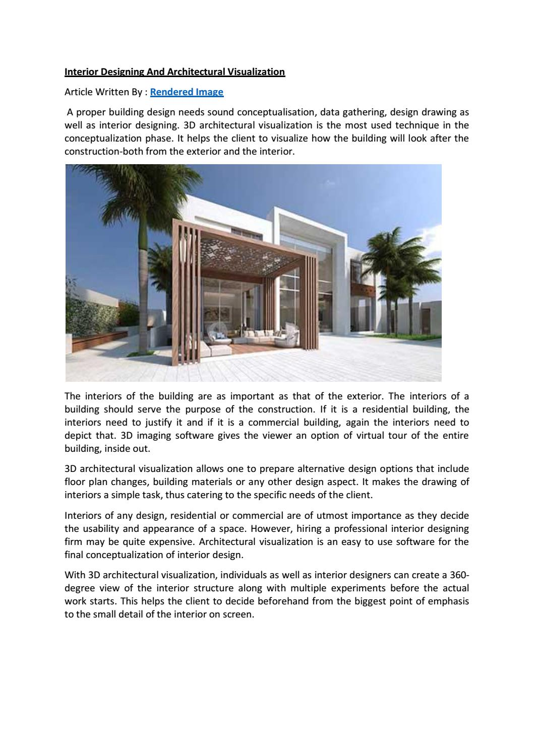 Interior Designing And Architectural Visualization By Reid Walters Issuu