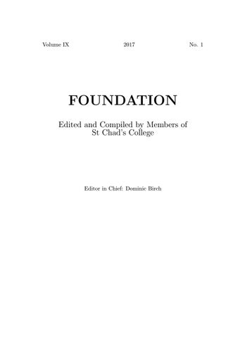 Foundation ix by st chads college publications issuu page 1 fandeluxe Images