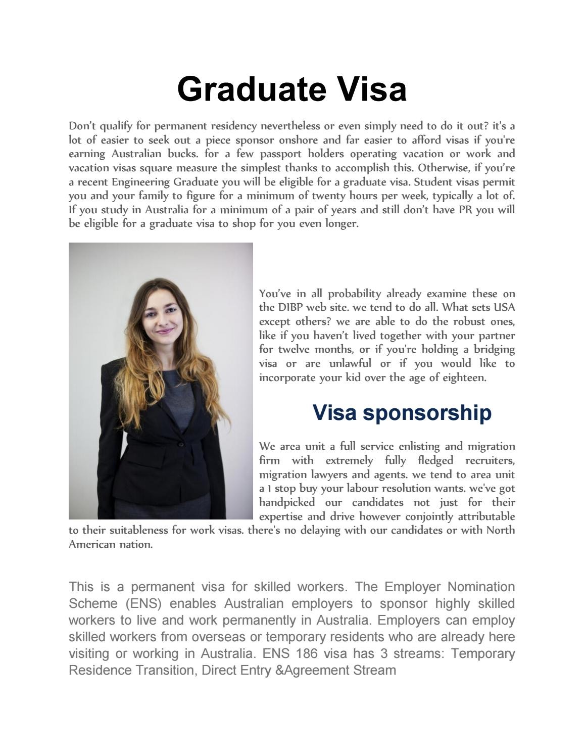 Graduate Visa By Devid Michle Issuu
