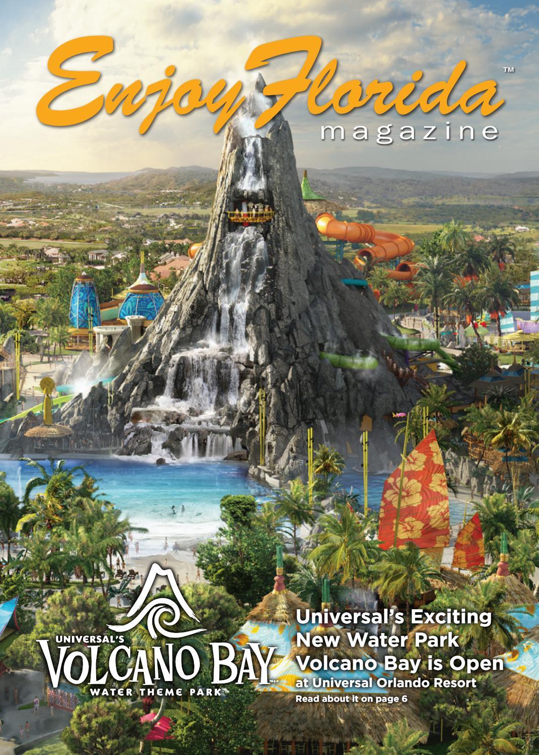 VOLCANO BAY WATER THEME PARK ORLANDO FLORIDA brochure NEW free shipping
