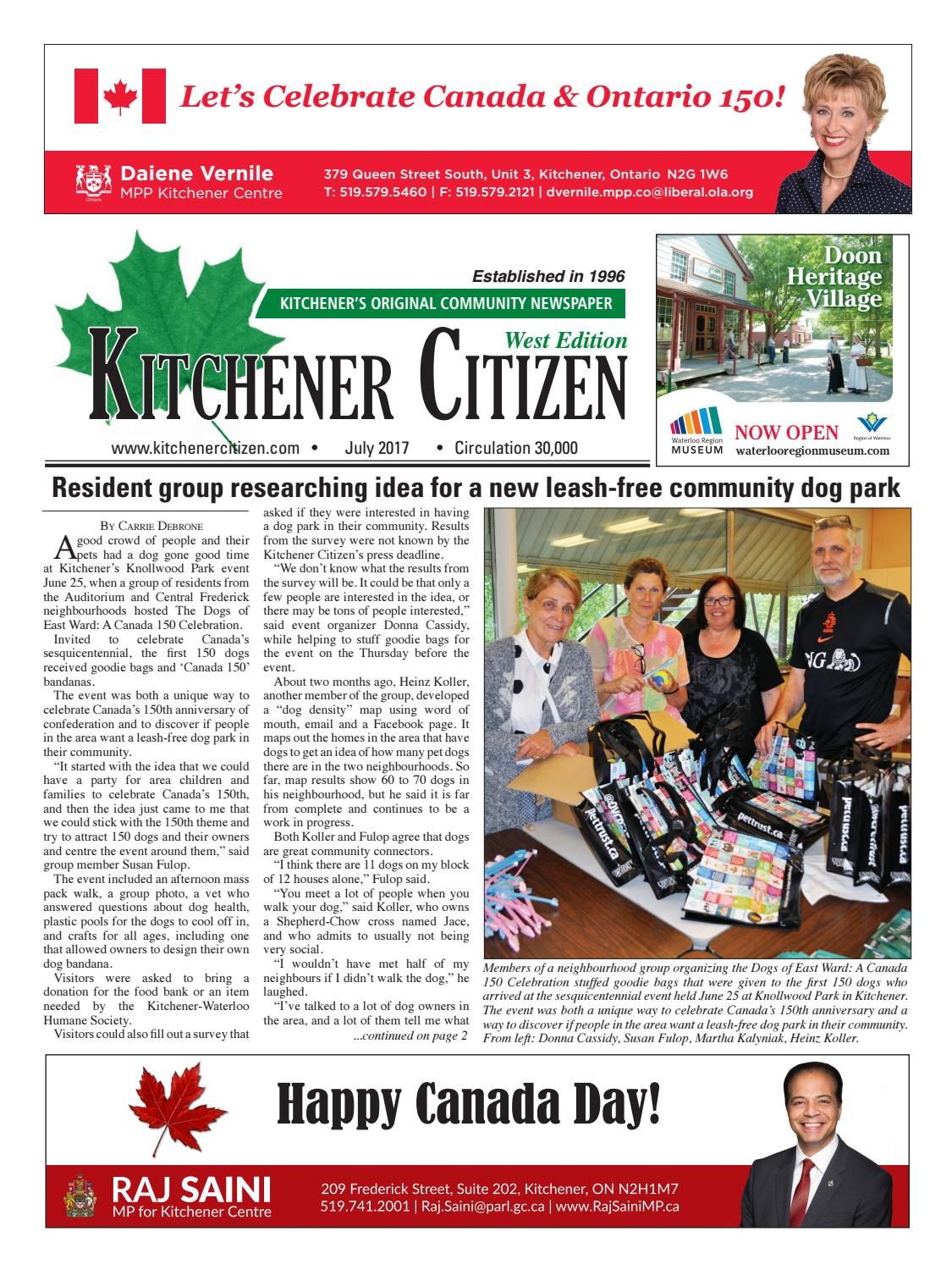 Kitchener Citizen - West Edition - July 2017 by Kitchener Citizen ...