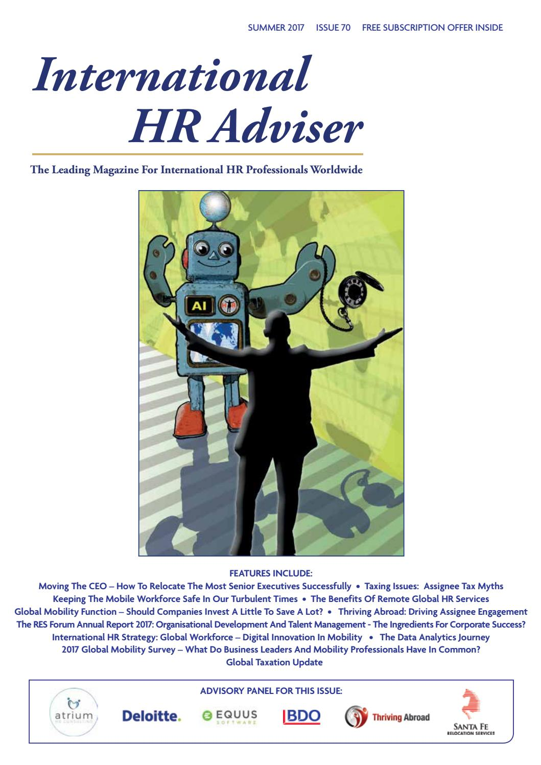 International HR Adviser Summer 2017 by International HR