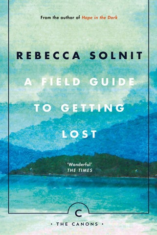 Solnits Subway Map Video.A Field Guide To Getting Lost By Rebecca Solnit By Canongate Issuu