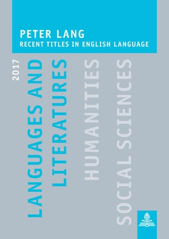 Languages and Literatures • English Language Titles 2017 by Peter