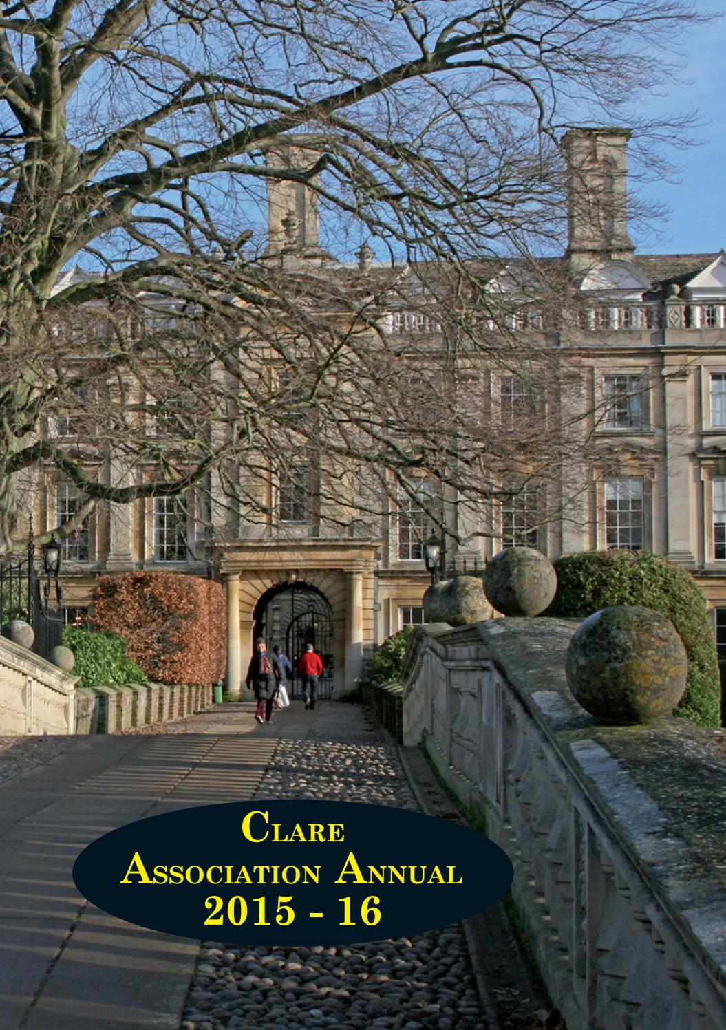 Clare Association Annual 2015-16 by Clare College - issuu