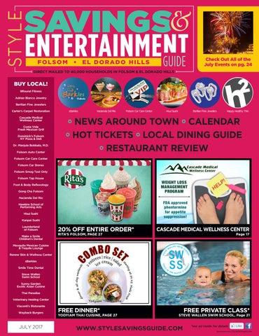 Style Savings Entertainment Guide Folsom El Dorado Hills July
