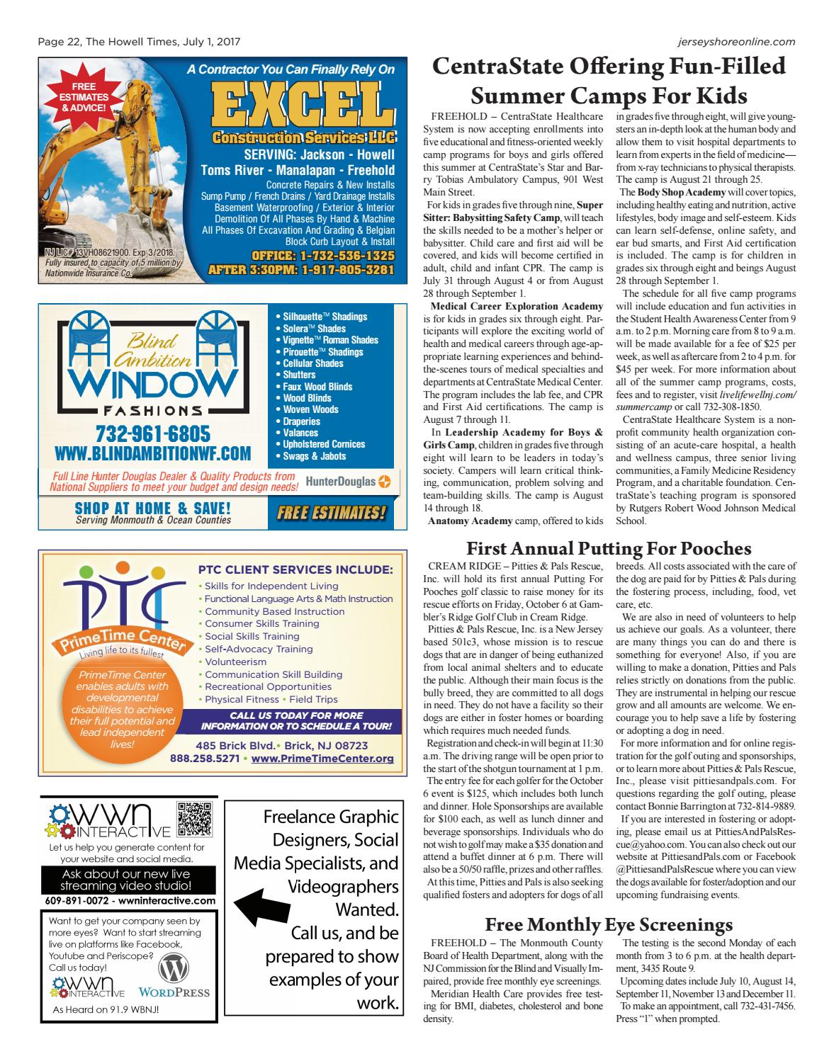 2017 07 01 The Howell Times By Micromedia Publications Jersey