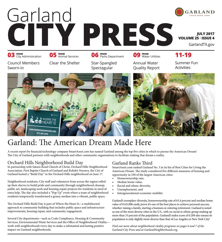 Garland City Press July 2017 by City of Garland Texas issuu